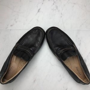 ~Sperry~ Black Leather Driving Loafer